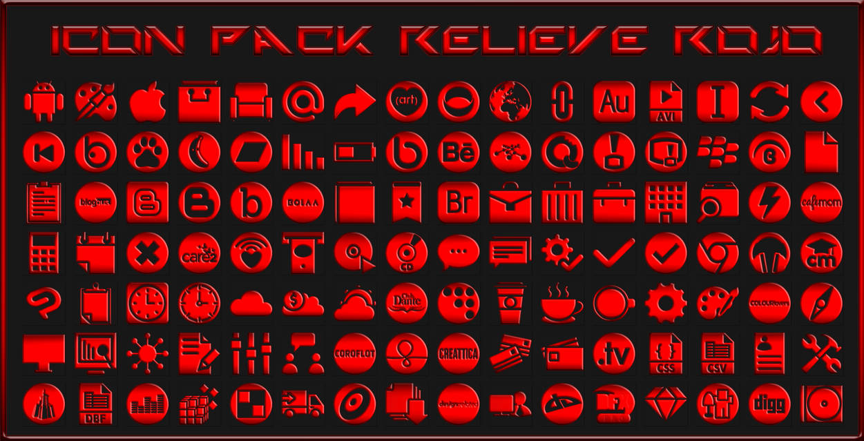 IconPack Relieve Rojo by Agelyk on DeviantArt