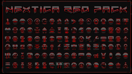 Icon Pack Nextica Red
