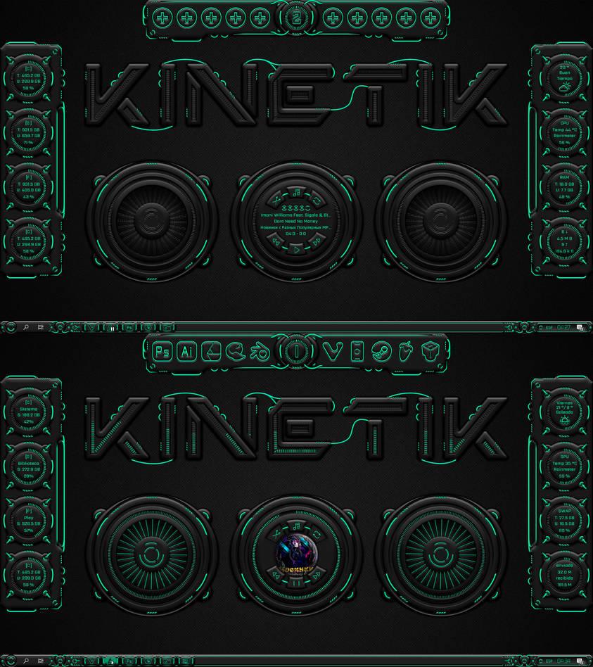 [Rainmeter] Kinetik 2.0 by Agelyk