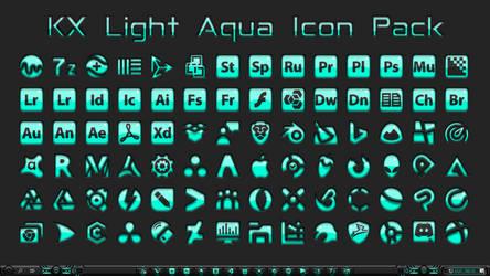 [IconPack] Kinetik X Light Aqua (700 icons) by Agelyk