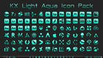 [IconPack] Kinetik X Light Aqua (700 icons) by Agelyk