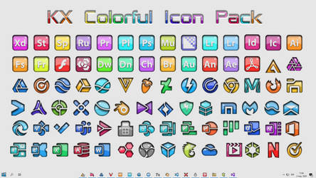[IconPack] Kinetik X Light Colorful by Agelyk