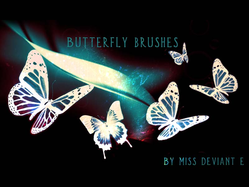 Butterfly brushes PS by Miss-deviantE