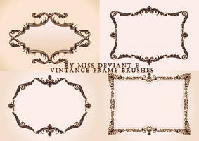 Vintage Frame Brushes by Miss-deviantE
