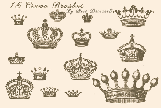 3215e5cbdb6 Crown Brushes by Miss-deviantE on DeviantArt