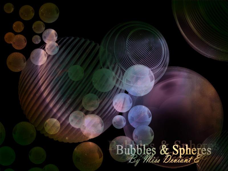 Bubbles spheres Photoshop Brushes by Miss-deviantE