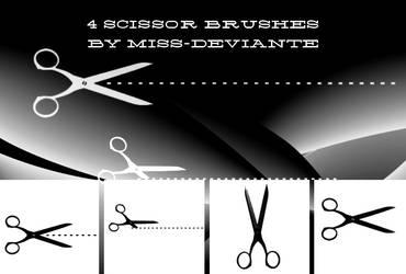 4 CUTTING EDGE SCISSOR BRUSHES