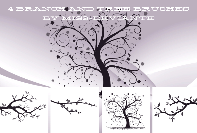 4 BRANCH AND TREE BRUSHES