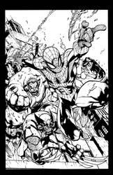 Joe Mad - Avenging Spiderman - inks by Rexbegonia
