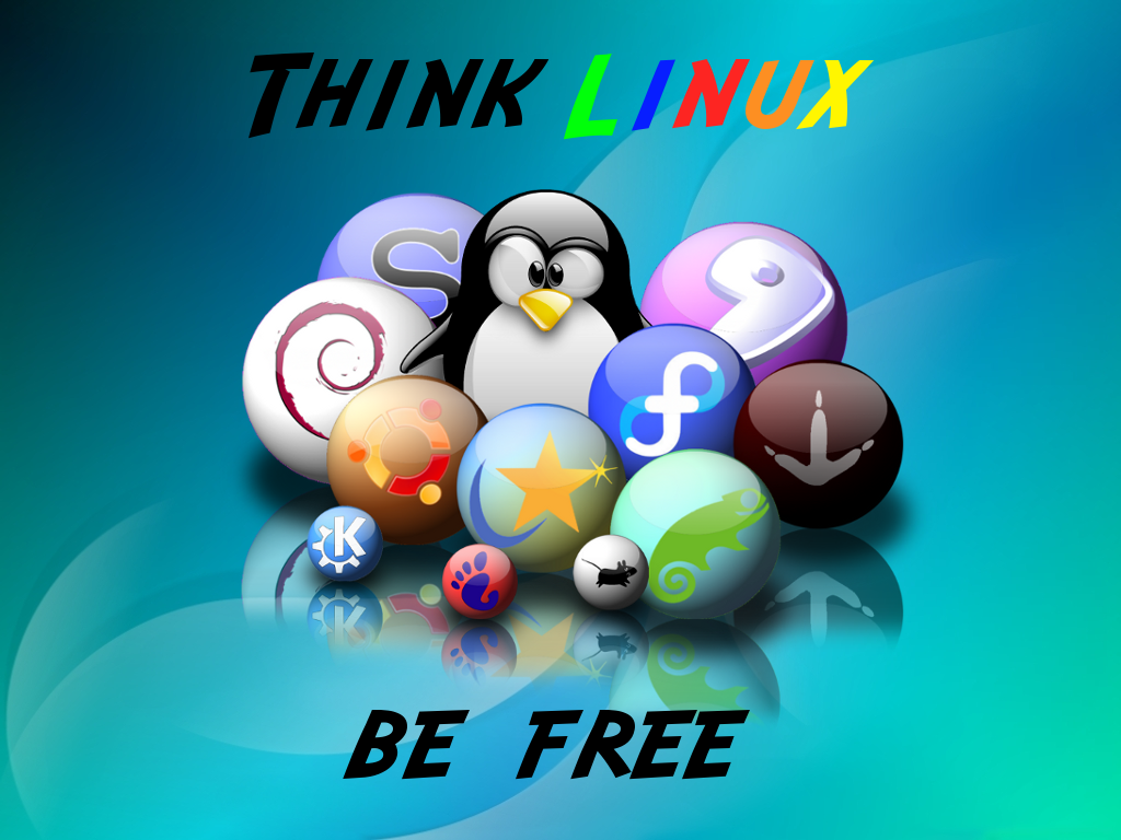think linux wallpaper by - photo #12