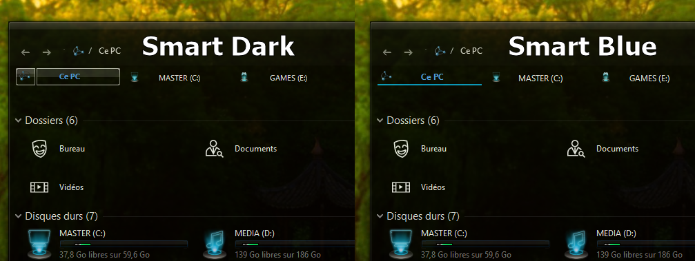 Smart tabs for qttabbar ( windows 10 dark themes ) by Mykou