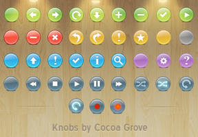 Knob Buttons Toolbar icons by iTweek
