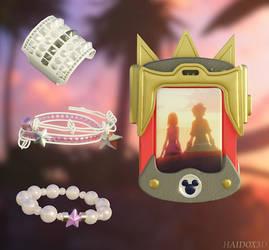 KH3 Kairi's bracelets and Gummiphone by HaidoSora
