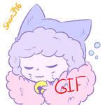 Neko-Sans Yawning (gif) by shion396