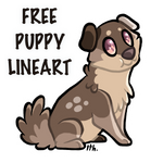 Free Puppy Lineart by Ithlini