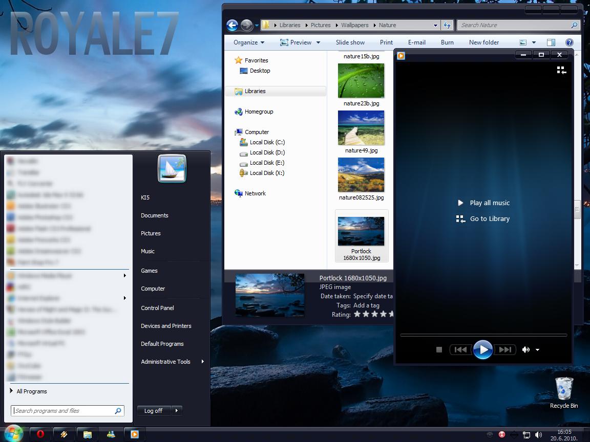 Windows 7 Basic Royale7 by Kipet on DeviantArt