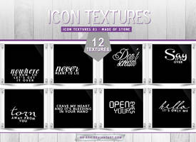 Icon Textures 03 - Made of Stone by nk-ash
