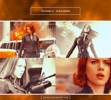 Coloring 31 - Black Widow by nk-ash
