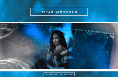 PSD File 05 - Everything is blue