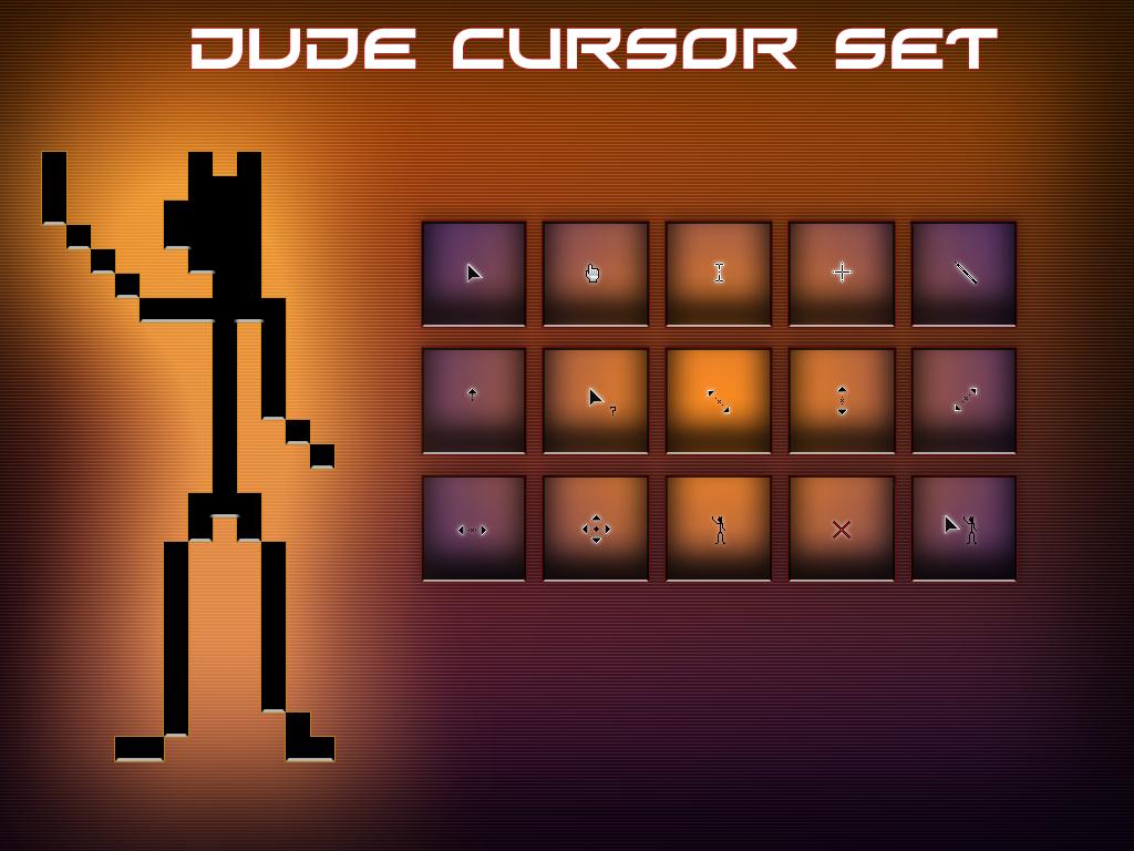 Dude Cursor Set by ChicoLechuga