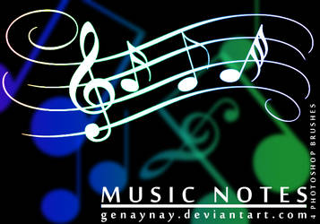 Music Notes Brushes by GENAYNAY