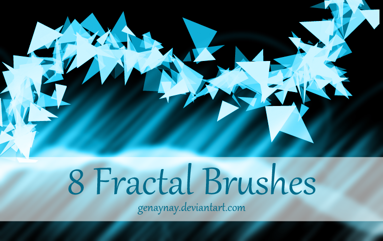 Fractal Photoshop Brushes by GENAYNAY