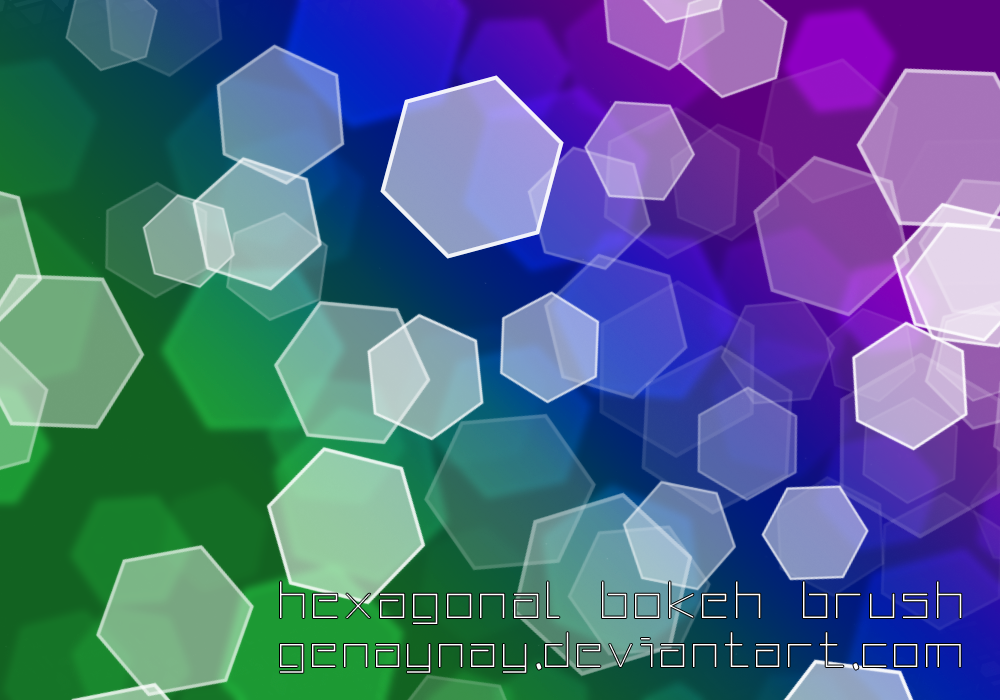 Hexagonal Bokeh Brush