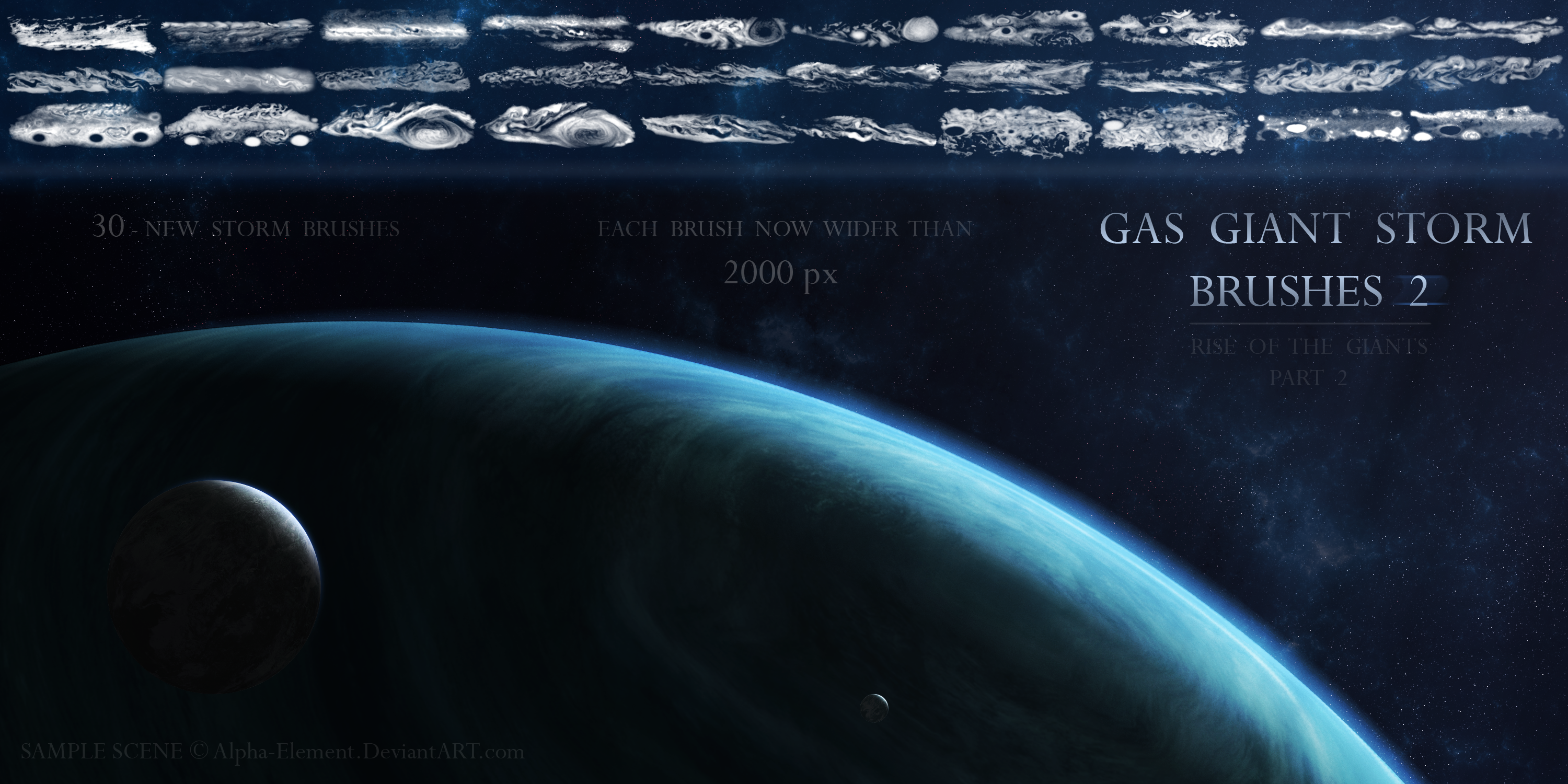 gas giant storm brushes 2 by alphaelement on deviantart