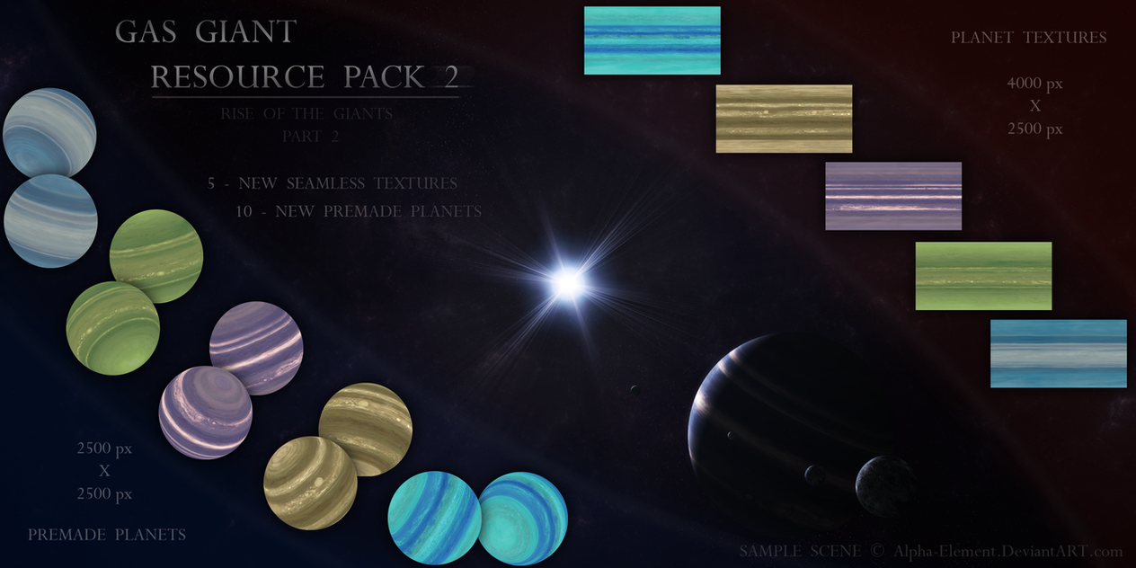 Gas Giant Resource Pack 2 by Alpha-Element