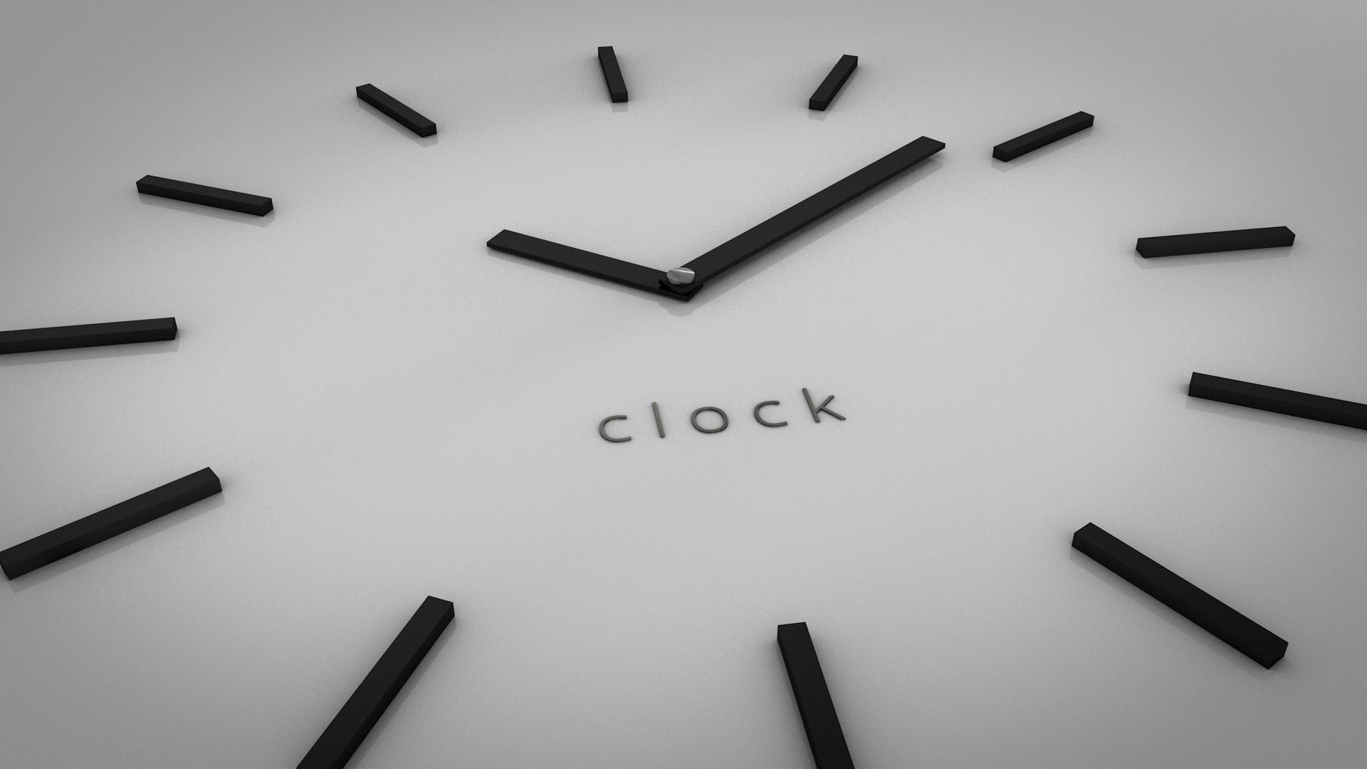 Minimalistic Clock Wallpaper by italankin on DeviantArt