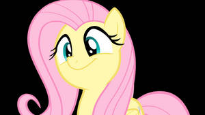 Fluttershy Sways Her Head To Music Animated Vector