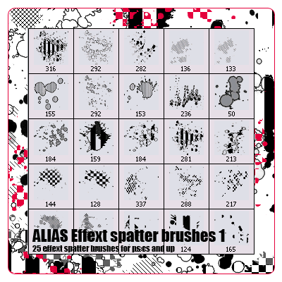 Varios Brushes Alias_spatter_effect_pack_1_by_xALIASx
