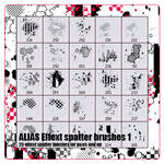 Alias spatter effect pack 1