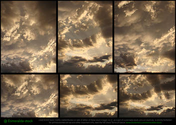 Sunset Clouds Stock Pack by Esmeralda-stock
