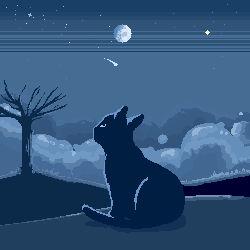 Night Cat Pixel