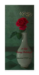 Painted Rose Gift