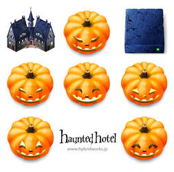Haunted hotel icons for MacOS