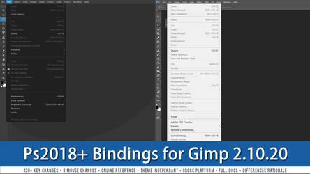 Photoshop 2018+ Bindings for Gimp 2.10.20