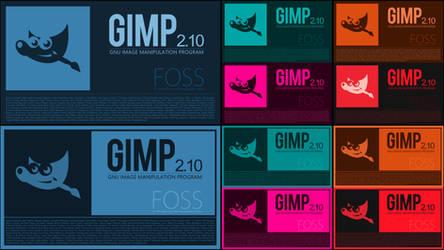 Flat Icon Splash Screens for Gimp 2.10
