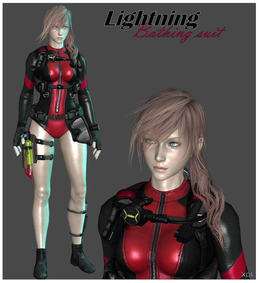 Lightning Bathing Suit (MOD + POSE) (Ordered) by Lightningfarrondevil