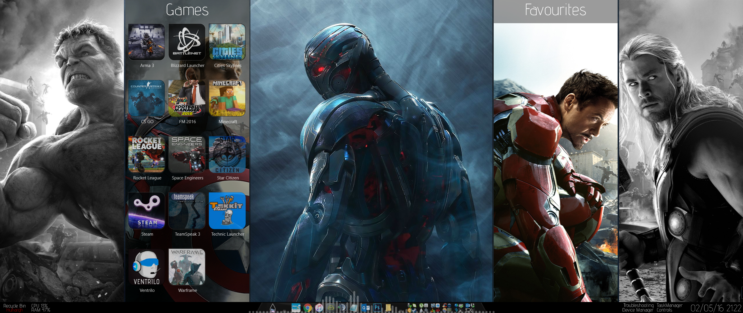 Panels - Avengers Theme - Update 1.1