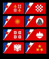 Yugoslavian regional flags