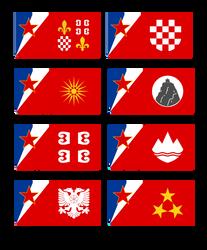 Yugoslavian regional flags by Leoninia