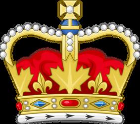 Heraldic crown of Canada by Leoninia