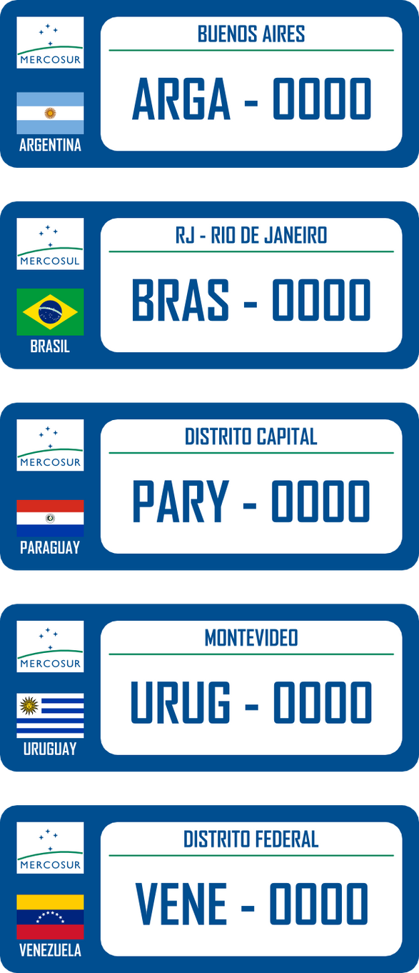 Mercosur S License Plates By Leoninia On Deviantart