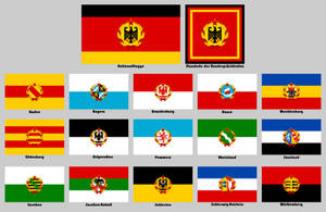 Flags for a socialist Germany