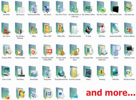 Vista RTM Folders- 104 icons