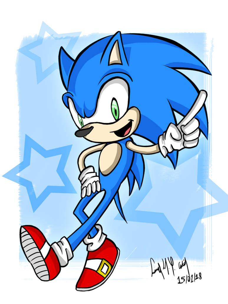 Sonic - Fanart (Digital)