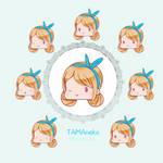TAMAneko OC headshots + gif by tamaneko-i-b
