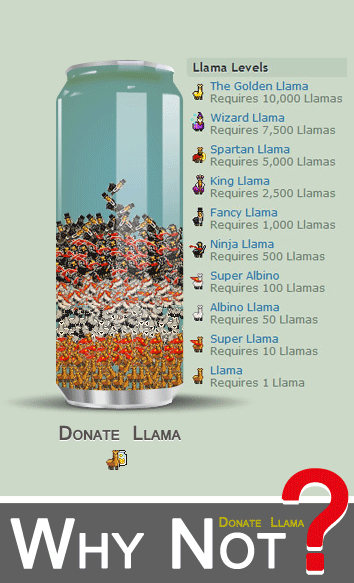 Donate Llama Style by ANC4DES